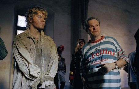 Terry Gilliam Matt Damon and  on set, Photo: Francois Duhamel