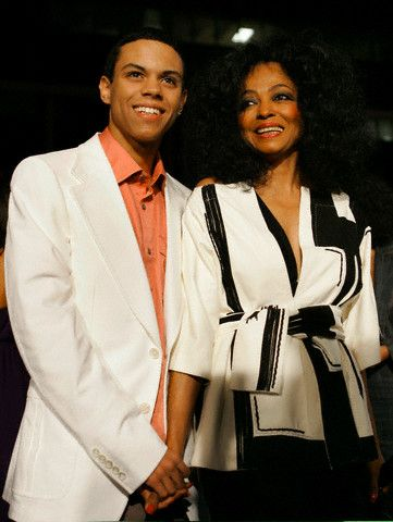 Evan Ross  with mother Diana Ross