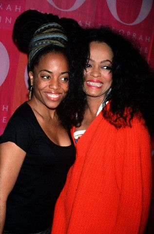 Rhonda Ross Kendrick with mother Diana Ross