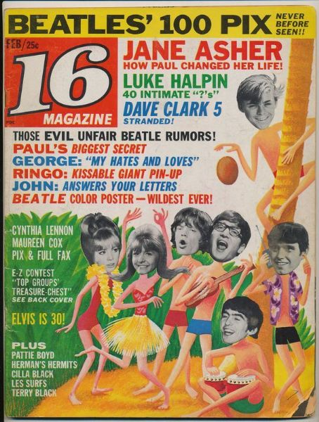 Jane Asher - 16 Magazine Cover [United Kingdom] (February 1965)