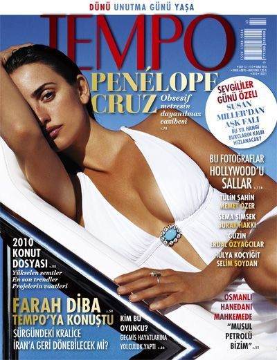 Penélope Cruz - Tempo Magazine Cover [Turkey] (February 2010)