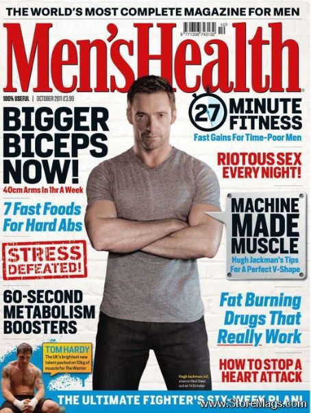Hugh Jackman - Men's Health Magazine Cover [United Kingdom] (October 2011)