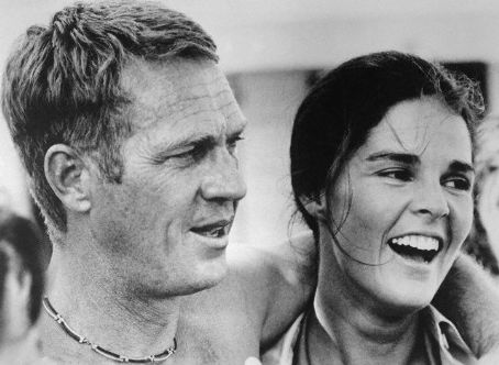 Ali MacGraw  and Steve McQueen