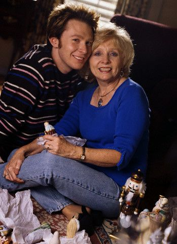 Clay Aiken  with his mom
