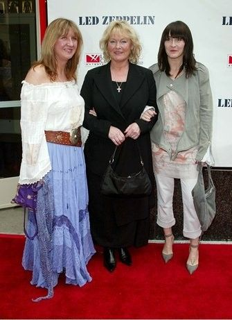 Patricia Bonham Patti Bonham, daughter Zoe Bonham and sister-in-law Deborah Bonham attending the New York Premiere of Led Zeppelin's new LIVE DVD, at the Loews 34th Street Theatre, on 27th May 2003.