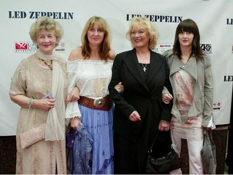 Patricia Bonham Joan Bonham (Bonzo's mother), Deborah Bonham (Bonzo's sister), Patti Bonham (wife), and Zoe Bonham (daughter) attending the New York Premiere of Led Zeppelin's new LIVE DVD, at the Loews 34th Street Theatre, on 27th May 2003.