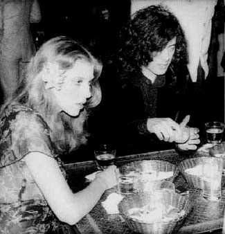 Bebe Buell and Jimmy Page, LA 1974