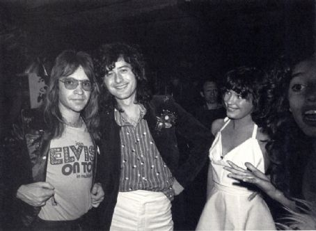 Jimmy Page and Pamela Des Barres, partying with Rodney Bingenheimer and Lori Maddox, July 1972, LA
