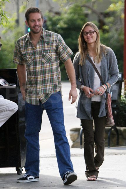 Jasmine Paul Walker and his longtime girlfriend  Pilchard-Gosnell strolled around Montecito, CA on Thursday.October 29, 2010