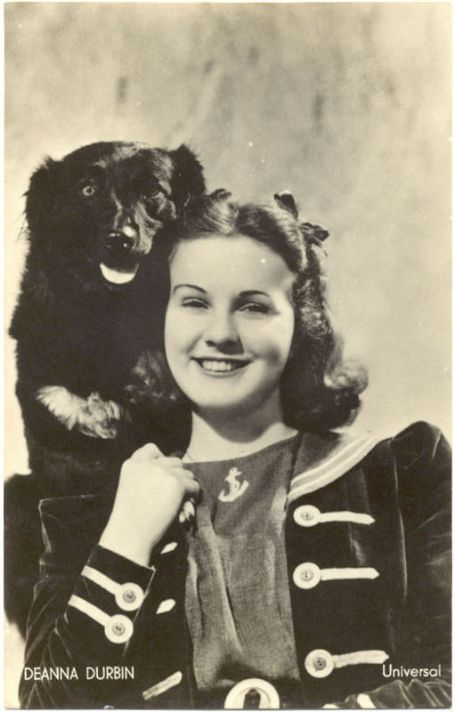 Deanna Durbin  with her dog Tippy