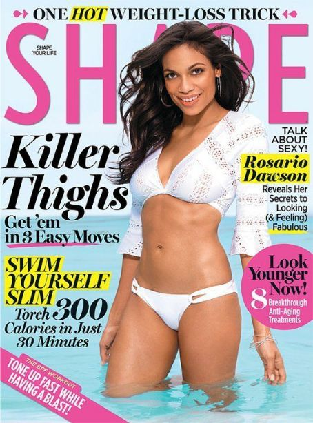 Rosario Dawson - Shape Magazine Cover [United States] (August 2011)