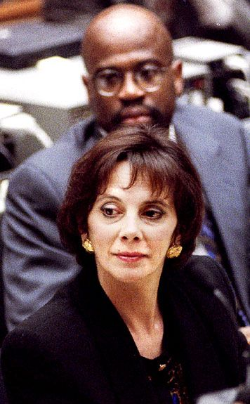 Marcia Clark & Christopher Darden at the O.J. Trial