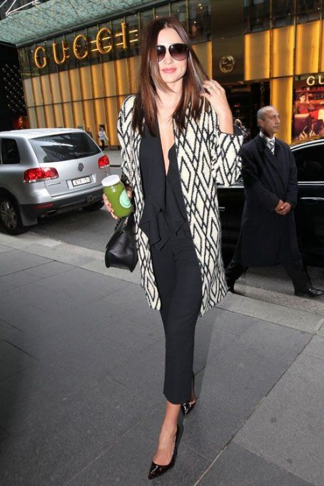 Miranda Kerr: making her way to a meeting at David Jones in Sydney