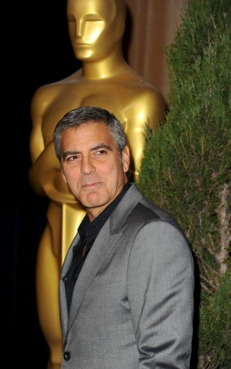 George Clooney's Dapper Academy Awards Luncheon Arrival