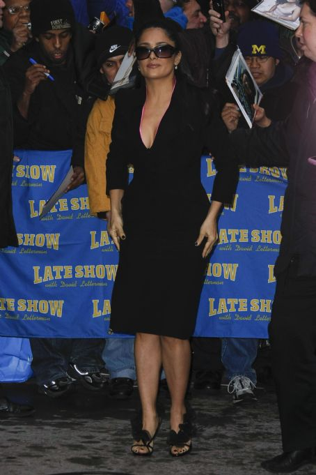 "Late Show with David Letterman - Salma Hayek - Visits The ""Late Show With David Letterman"" In New York City, 13.01.2009."