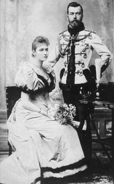 Tsarina Alexandra Official engagement photograph of Nicholas II and Alexandra, by Sergei Lvovich Levitsky, April 1894