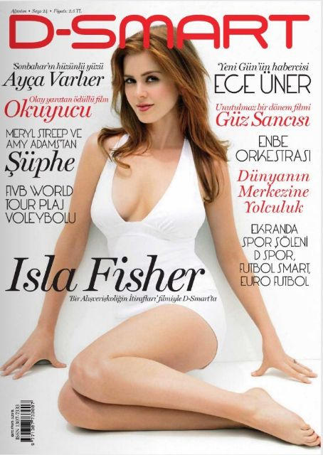 Isla Fisher - D-Smart Magazine Cover [Turkey] (August 2009)