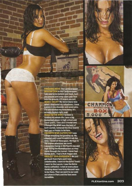 Candice Michelle - Candice Ehrlich - Flex Magazine - February 2009