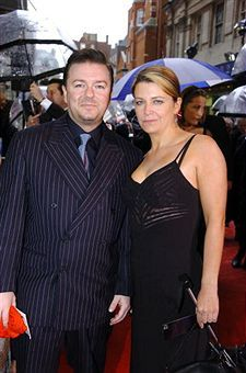 Ricky Gervais  and Jane Fallon