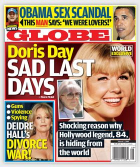 Deidre Hall  on the cover of Globe