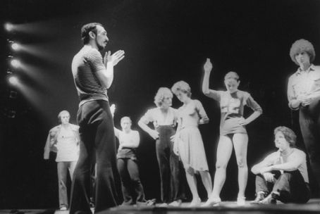Michael Bennett  and the original cast of A Chorus Line. Photo taken by Martha Swope, 1975 ©, Courtesy of Sony Pictures Classics