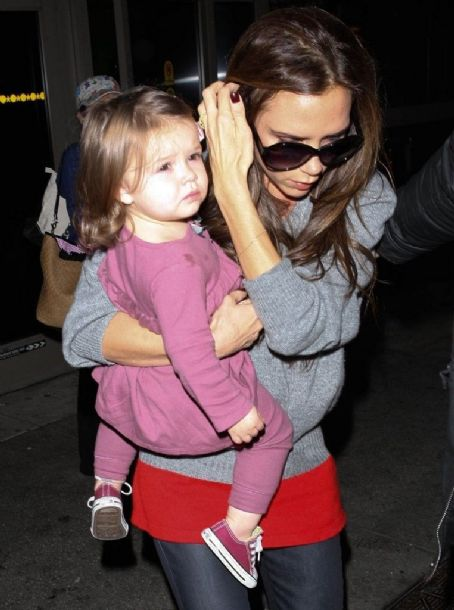 Harper Beckham Arriving On A Flight At LAX