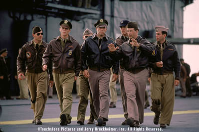 Capt. Rafe McCawley American military service personnel in the Pacific prepare for war, including (left to right) Colonel Doolittle's co-pilot (Paul Francis), Danny Walker (Josh Hartnett), Red (Ewen Bremner, background), Rafe McCawley (Academy Award®-winner Ben Affleck),