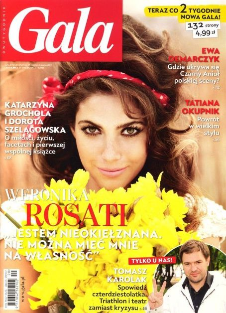 Weronika Rosati - Gala Magazine Cover [Poland] (13 June 2011)