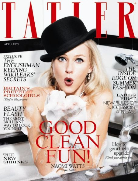 Naomi Watts - Tatler Magazine Cover [United Kingdom] (April 2011)