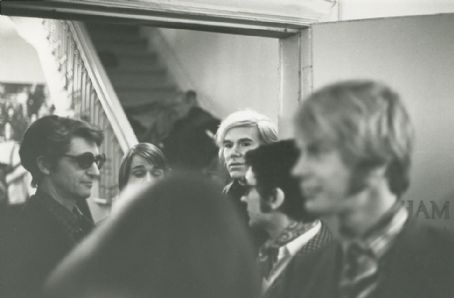 Andy Warhol , back center; Ian Hornak, right foreground