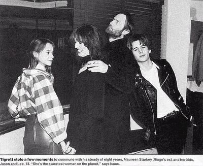 Jason Starkey 1984, March 12th - Opening of the New York Hard Rock Cafe - Lee, Mo, Isaac and Jason (Lee and Jason are children by Ringo)
