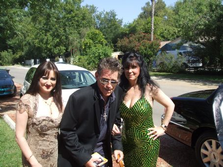 Jeff Conaway , Vikki Lizzi & Helen Darras about to get into their limo to attend the 2008 TV Land Awards Show.