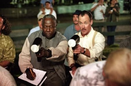 Summer Catch Hank Aaron and John C. McGinley in Warner Brothers'  - 2001