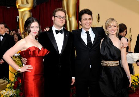 Lauren Miller , Seth Rogen, James Franco, Ahna O'Reilly at 81st Annual Academy Awards