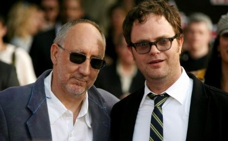 Rainn Wilson  with Pete Townshend at the 2008 VH1 Rock Honors