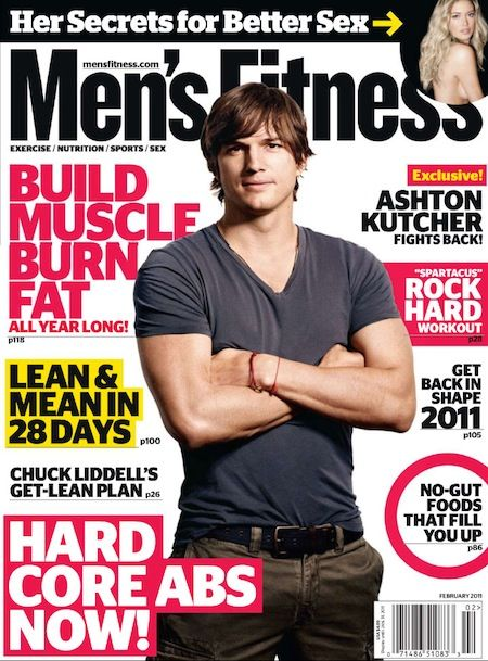 Ashton Kutcher - Men's Health Magazine [United States] (February 2011)