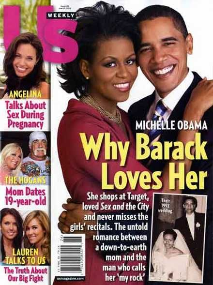 Michelle Obama Barack Obama and