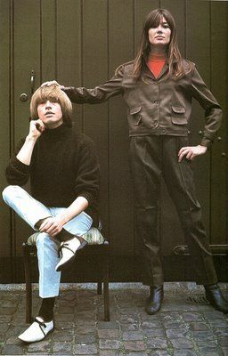 Françoise Hardy Brian Jones and Francoise Hardy
