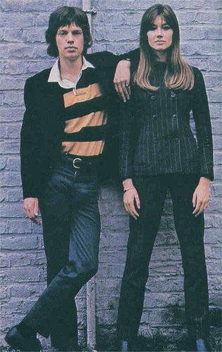 Françoise Hardy Mick Jagger and Francoise Hardy