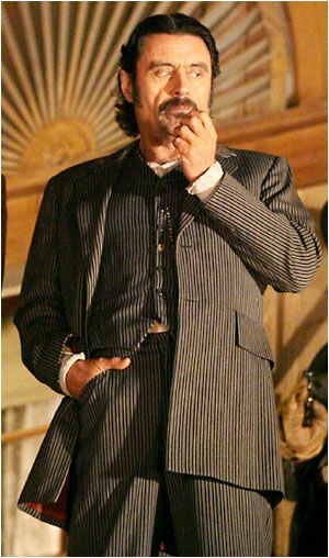 Deadwood Ian McShane as Al Swearengen on