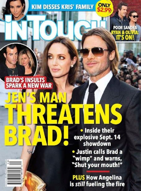 Angelina Jolie, Brad Pitt - In Touch Weekly Magazine Cover [United States] (3 October 2011)