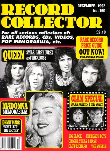 Roger Taylor, Freddie Mercury, Brian May, John Deacon, Madonna, Marc Bolan - Record Collector Magazine Cover [United Kingdom] (December 1992)