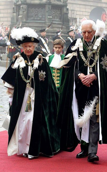 Queen Elizabeth II at St Giles Cathedral for the Order of the Thistle Ceremony (July 5)
