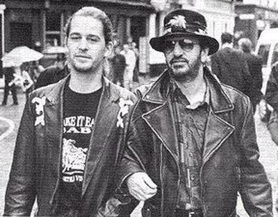 Jason Starkey  and dad Ringo Starr, early 1990s