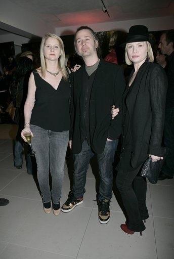 Jason Starkey  and Flora Evans with Jason's sister Lee attend the Agent Provocateur Spring/Summer Collection Party at the Louise T Blouin Foundation April 1, 2008 in London, England.