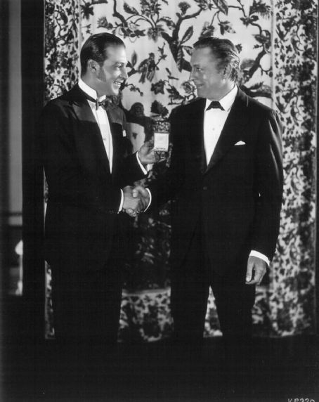 Rudolph Valentino and John Barrymore