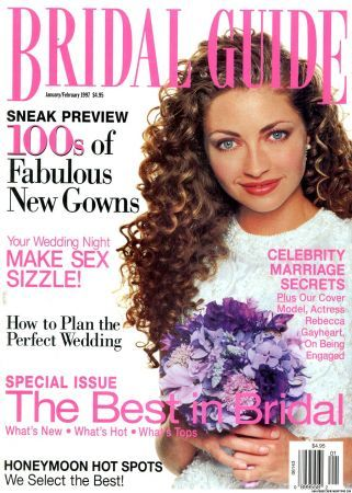 Rebecca Gayheart - Bride Magazine Cover [United States] (January 1997)