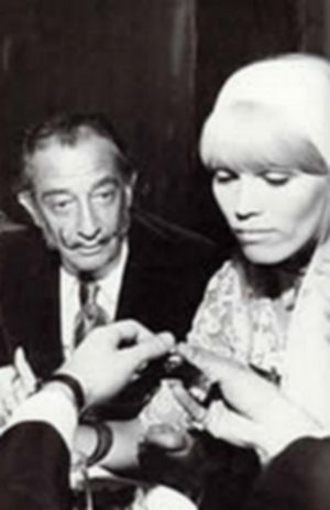 Amanda Lear Salvador Dali and , April 16, 1973
