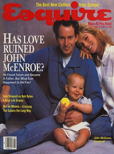 John McEnroe  - July 1987 issuse