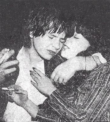 Zak Starkey 1983, September 21st -  with wife Sarah at an after-show party at the Hard Rock Café in London following a concert at the Royal Albert Hall.